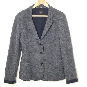 Seventy   Gray Herringbone Three-Button Blazer 46